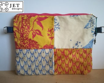 Upcycled summer themed patchwork laptop tablet kindle case