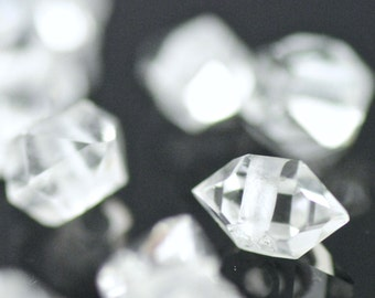 Genuine Herkimer Diamond Bead-Drilled Herkimer-Herkimer Diamond Crystal Bead-Hand Drilled Herkimer Diamond Bead-Single Herkimer Diamond Bead