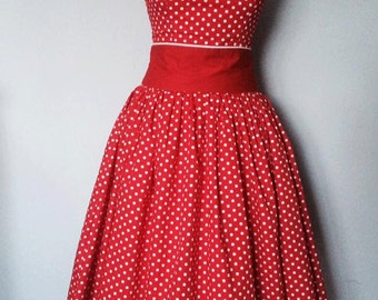 1950's style swing dress 'Ladybug'