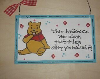 Winnie the Pooh - Bathroom Wall Hanging