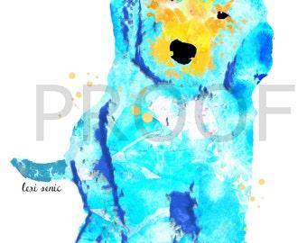 Golden Doodle Print || Parker the Golden Doodle || Watercolor Art Print || Dog Print || Watercolor Dog Art || Golden Doodle
