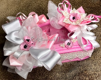 Shabby chic recycled little jewerly box