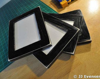 Set of 4 8x10 Picture Frames with Glass Backing and Mounting Hardware