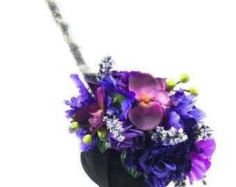 Mystical unicorn horn flower crown Handmade by Asbeau *purples*