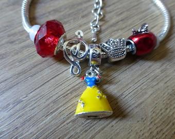 Princess Snow White - Disney Themed Charm Bracelet