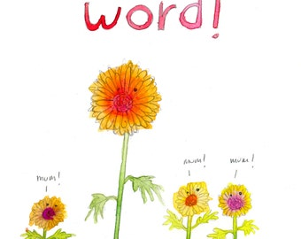 Mums The Word (greeting card)