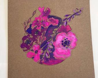Hand Painted Botanical Greeting Card