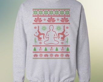 Yoga and Namaste - Ugly Christmas Sweater