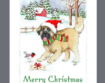 Leonberger Dog Christmas Cards Box of 16 Cards and Envelopes