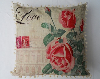 Love pillow cover & pink