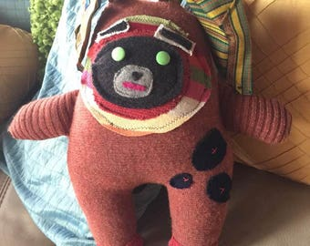 Repurposed Upcycled Puppy-like Softie Plush Doll
