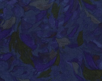 RJR - Burano - Linear Floral - Deep Blue - Fabric by the Yard 3014J-004