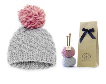 Les débutants Luca Pom chapeau tricot Kit