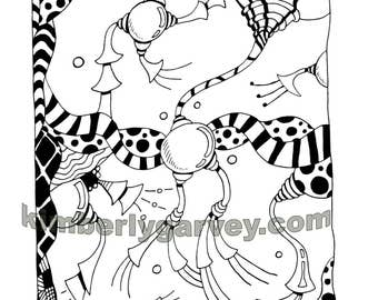 Coloring Page - PDF Digital - Doodloo