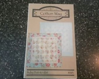 """Baby Dot-to-dot Quilt Pattern by Bonnie Olaveson for Cotton Way 42"""" x 42"""""""