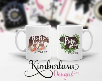 mama bear mug | papa bear mug | pregnancy reveal | fathers day | mothers day | dad mug | dad gift | gift for dad | bear mug | gift for mom
