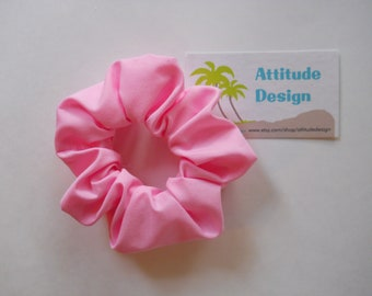 Cotton Candy Pink Scrunchie / Pink Fabric Hair Accessory