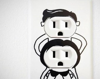 Outlet People ~ Outlet  Decal set of 4