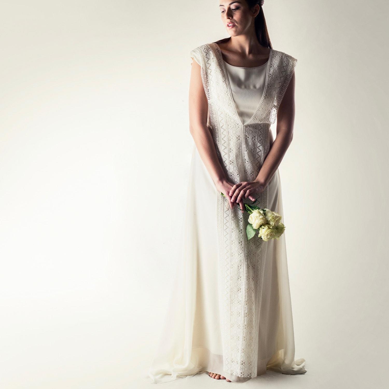 Wedding dress Plus size wedding dress Tunic wedding dress