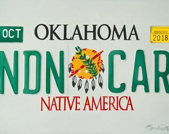 "Canvas Print of ""NDN CAR"" by Oklahoma Cherokee Artist Bryan Waytula"