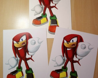PRINT of Knuckles Drawing