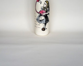 alice in wonderland bottle - alice  decoupage wine bottle
