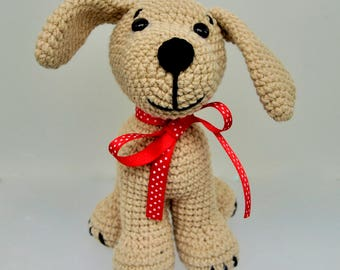 Crochet Dog, Crochet Puppy, plush dog, amigurumi dog, large dog toy, plush puppy, gifts for kids, stuffed animals, handmade toy dog, Puppy