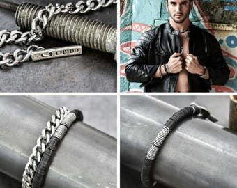 Men's bracelet, men's stack bracelet, gift for men, mens stretch bracelet, husband gift, gift for him, mens jewelry, mens gift, mens onyx