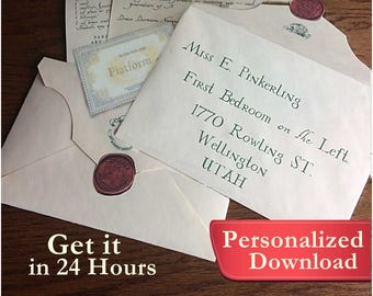 Personalized Harry Potter inspired Wizards Acceptance Letter Gift