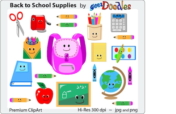 School supplies clipart teacher clip art back to school school supplies clipart teacher clip art back to school supplies with fun cartoon clip art smiles education and teaching images voltagebd Image collections