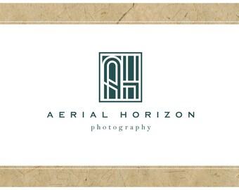 PreMade Logo Vector Logo - PreDesigned Logo - AERIAL HORIZON Logo Design -  Monogram Logo - Vintage Logo - Modern Logo - Retro Logo
