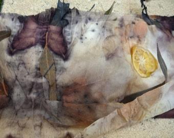 Eco print two tutorials. Eco Print Silk Scarf. Onion skin dyeing.Create your own silk scarf. PDF instant download. Silkcraft