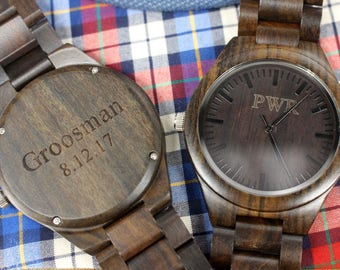Mens Watch Wooden Watch Wood Watch Engraved Watch Groomsmen Gifts Ideas Anniversary Gifts for Men Birthday Gifts for Husband Gifts for Dad
