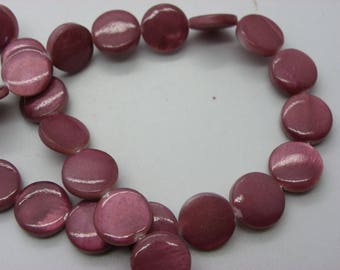 39 has 40 round shell Pearl 10 mm hole 1 mm plum Pearl