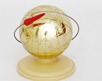 Vintage Commemorative World Globe - USSR Space Memorabilia