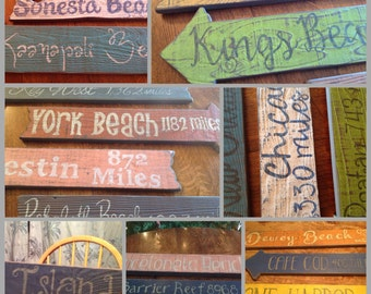 Outdoor Rustic Directional Signs, Beach Directional Signs, Wedding Directional Signs, Outdoor Rustic Signs, Outdoor Bar, Tiki Bar Signs,
