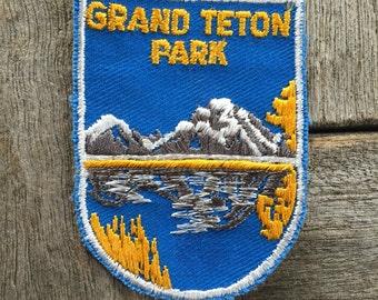 Grand Teton National Park Vintage Souvenir Travel Patch from Voyager