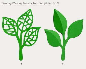 SVG and PDF Printable Digital Leaf - Template # 3 - 2 kinds - Cricut and print Ready- Adjustable