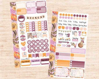 Woodland PERSONAL Kit (matte planner sticker, Filofax, Kikki K, Websters Pages, Color Crush)