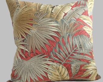 Tommy Bahama Designer Palm Decorative Throw Pillow Cushion Cover Decorative Coastal Decor // Tropical Lumbar Accent Toss // All Sizes