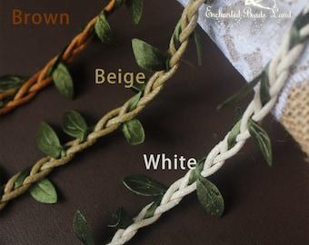 Supply Materials Woodland Leaf Vine Crown Tieback Headpiece Hair Piece Wreath Headband Doll Supplies
