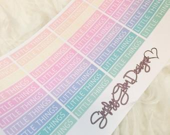 40 Rainbow LITTLE THINGS Stickers | Erin Condren & Plum Planner