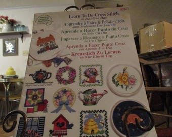 Learn To Cross Stitch In Just One Day 1998 American School of Needlework
