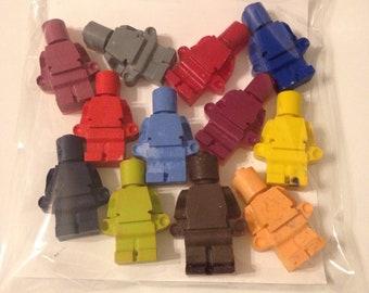 Custom Lego People Crayons
