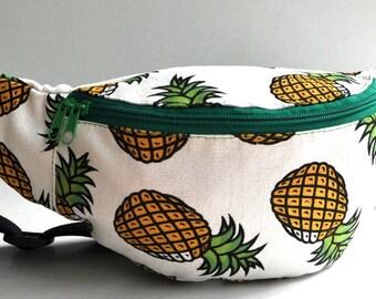 Fanny Pack  1 zipper pineapple  , bum bag,waist bag,belt bag,hip pouch,bags & purses festival bag, concertsbag, festival bag ,