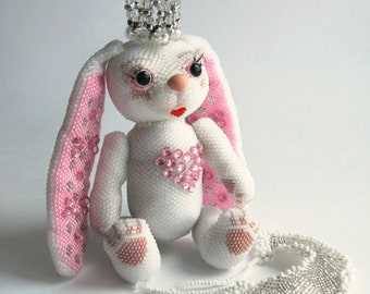 "Pattern / Tutorial Beaded Ornament - Master class for creating ""Bunny-Princess"""