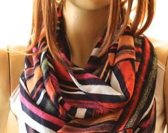 Colorfull infinity scarf. Loop scarves. Woman scarves. Circle scarf. Summer scarf. Spring scarf