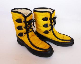 Vintage Winter Snow Boots SZ 6 1970s Denham's ESKIPADES Canada