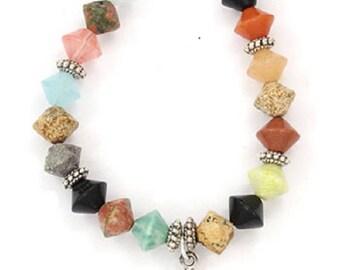 Navajo Single Strand Multi Color Bracelet