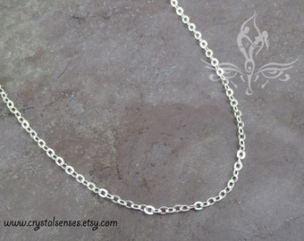 "3mm x 2mm Oval Link Chain Silver Plated  14""- 26"""
